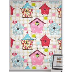 Birdhouse Bright Roman Blinds
