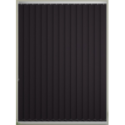 Bermuda Blackout Black Vertical Blind