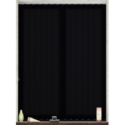 Bermuda Plain Black Vertical Blind