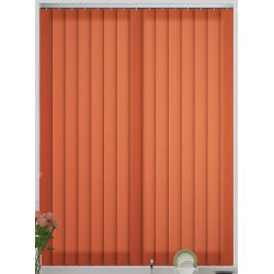 Bermuda Plain Burnt Orange Vertical Blind