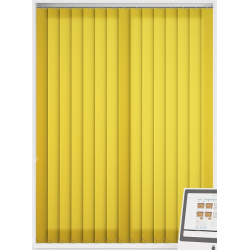 Bermuda Plain Cyber Yellow Vertical Blind