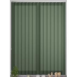 Bermuda Plain Dark Green Vertical Blind