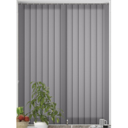 Bermuda Plain Dark Grey Vertical Blind