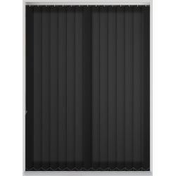 Candy Stripe Black Vertical Blind