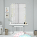 Wave White Vertical Blind