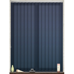 Unicolour Navy Vertical Blind