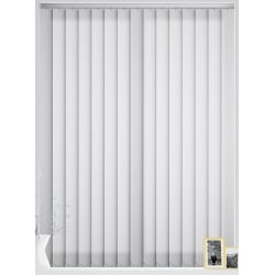 Unicolour White Vertical Blind
