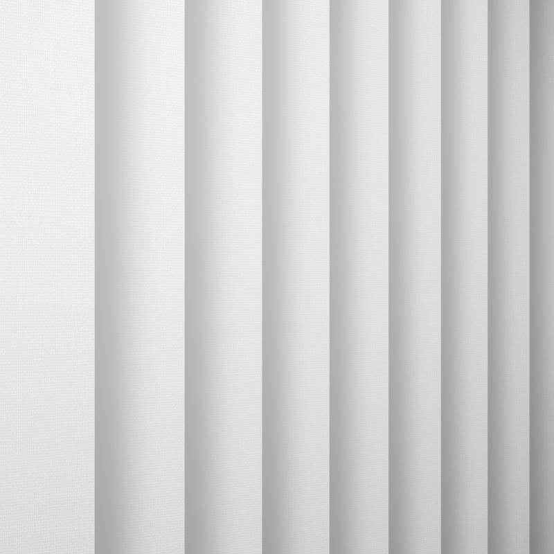 Unicolour White Vertical Blind