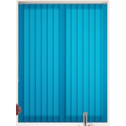 Unicolour Cyan Vertical Blind
