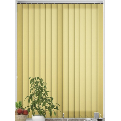 Unicolour Yellow Vertical Blind