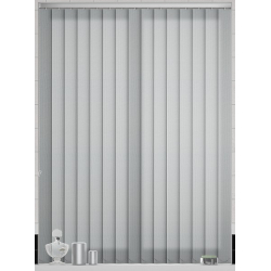 Atlantex Silver Vertical Blind