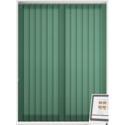 Atlantex Hunter Green Vertical Blind