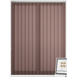 Atlantex Brown Vertical Blind