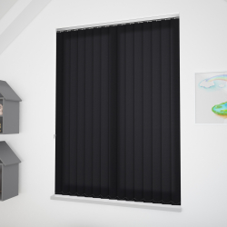 Odessa Black Vertical Blind