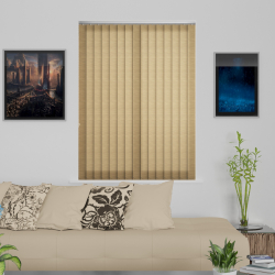 Linenweave Hessian Vertical Blind