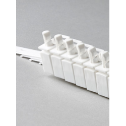 "10 x 3.5"" LHS Vertical Blind Carrier Trucks (White Plastic)"