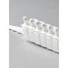 """10 x 3.5"""" LHS Vertical Blind Carrier Trucks (White Plastic)"""
