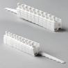 """10 x 3.5"""" SPLIT Vertical Blind Carrier Trucks (White Plastic)"""