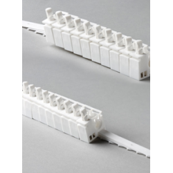 10 x 3.5 SPLIT Carrier Trucks (White Plastic) (5 Left