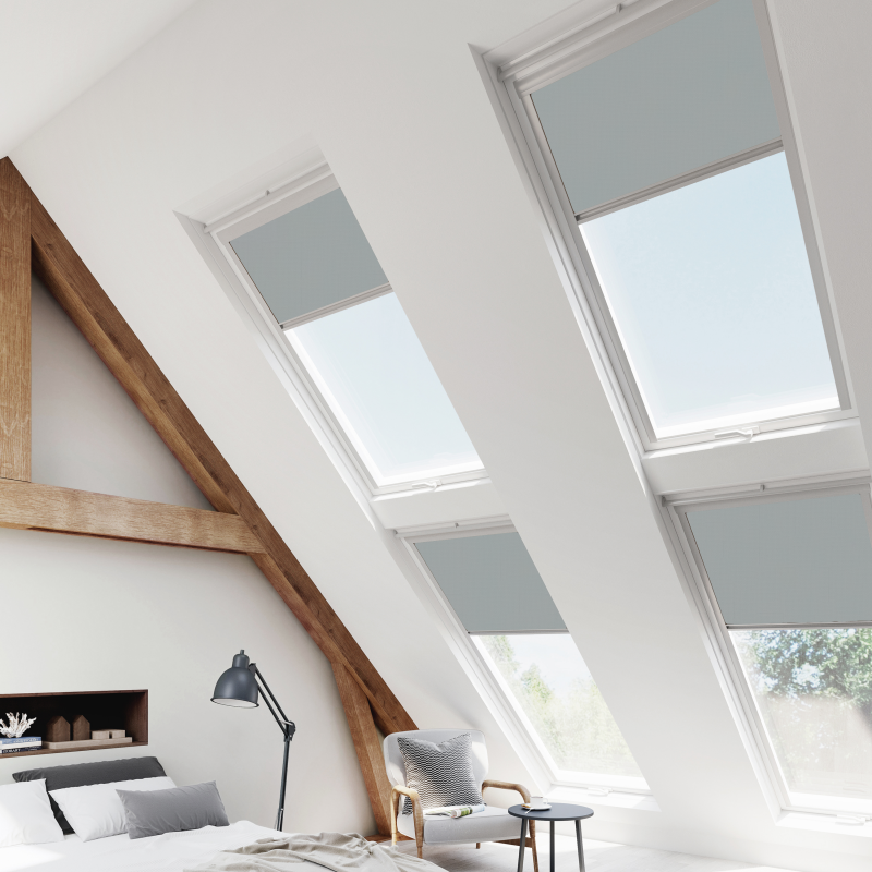 flint blind for velux skylight and roof blinds blindsbypost for velux. Black Bedroom Furniture Sets. Home Design Ideas