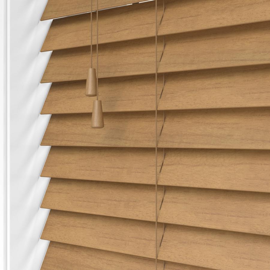 Tuscan Oak Real Wood Venetian Blind Made To Measure