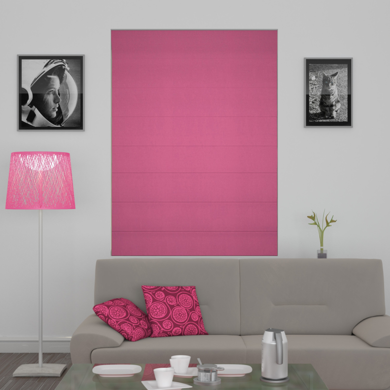 Citadel Hot Pink Roman Blind Blackout Or Thermal Made To Measure
