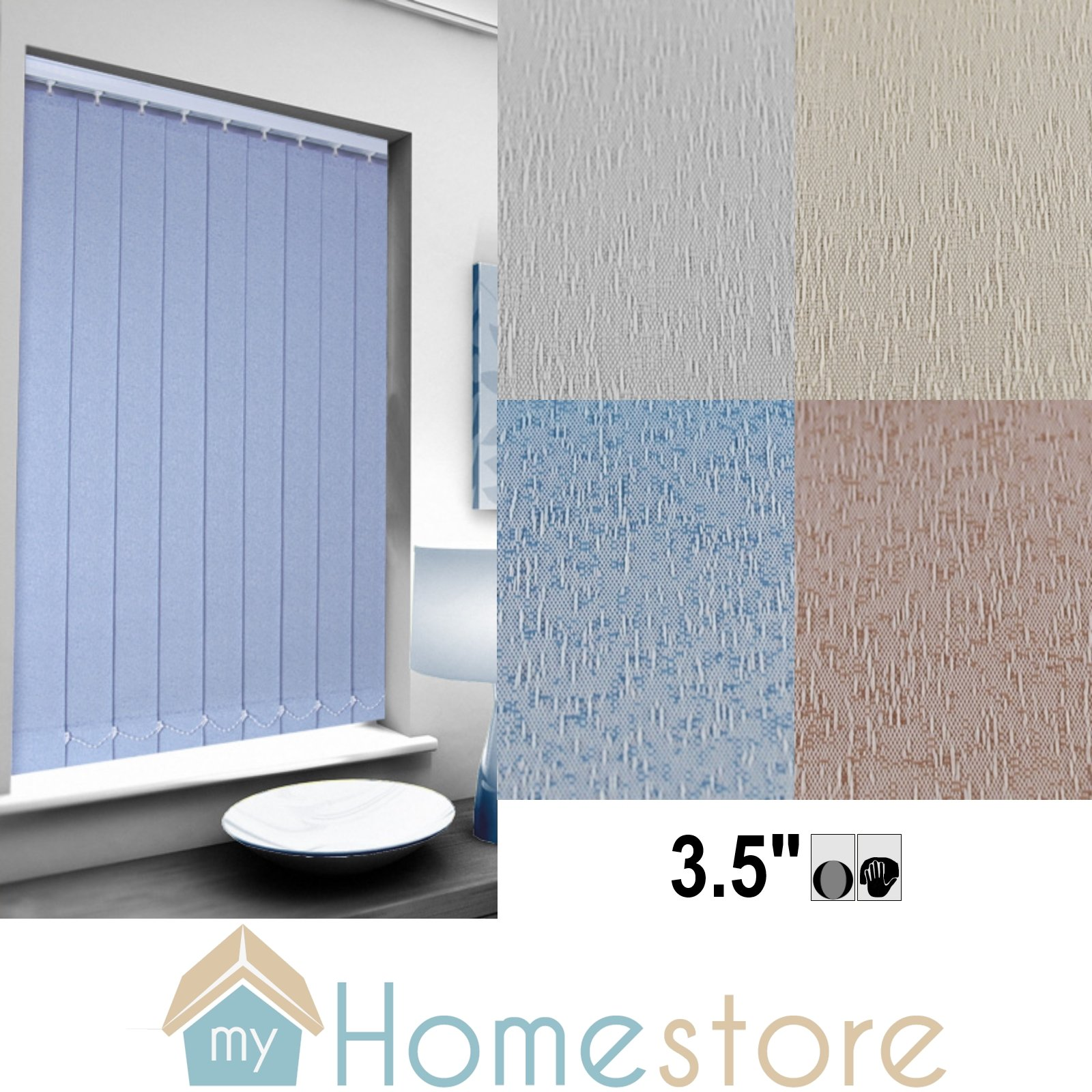 Replacement Vertical Blind Slat 89mm 3 5 Ice Drops Design