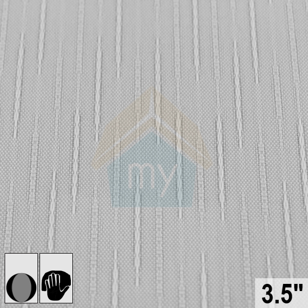 Replacement Vertical Blind Slat 89mm 35 SLATE Design